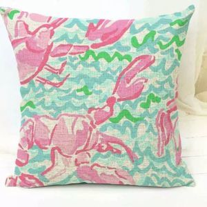 Lilly Pulitzer Lobstah Roll Lobster Throw Pillow